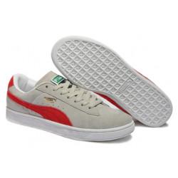 Puma Suede Skateboard Classic серые с красным